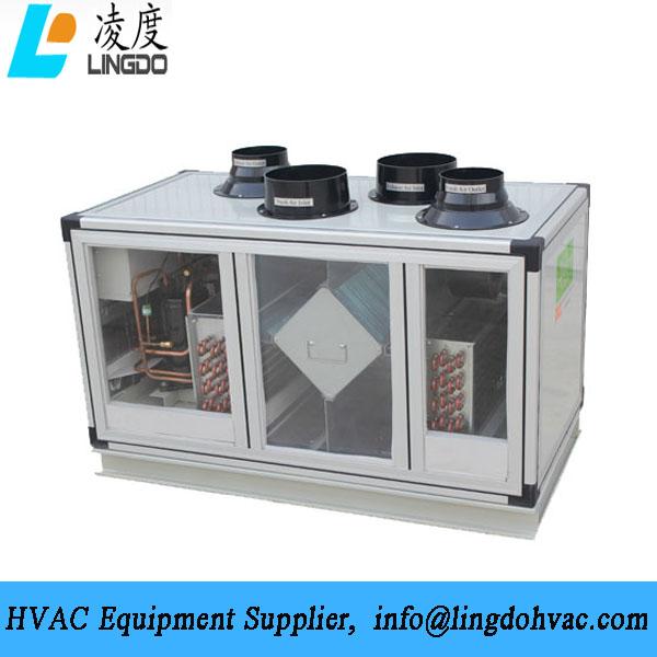 Vertical heat pump fresh air unit vertical