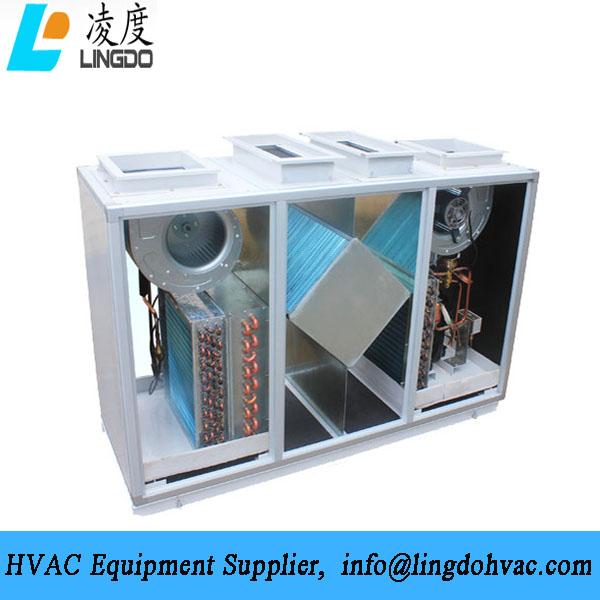 Vertical heat pump heat fresh air unit